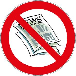 Verbot von Zeitungsausschnitten